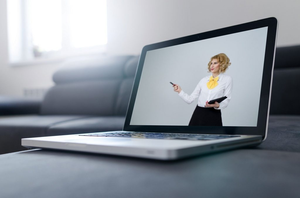 A lady providing an online consultation services