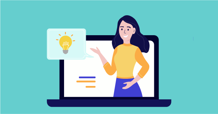 A teacher or tutor providing services online