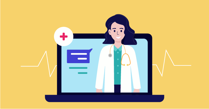 a doctor providing online consultations