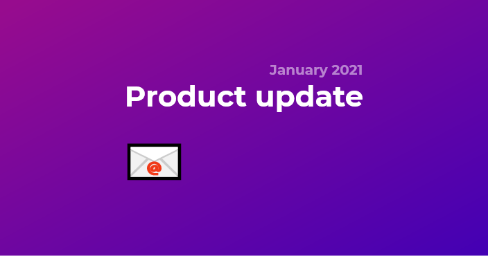 Product update - transactional e-mails