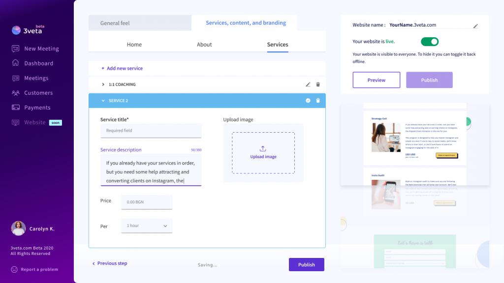 3veta website builder - services