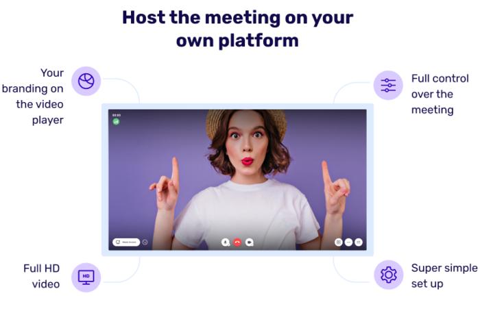 What is 3veta - host meetings on your own platform