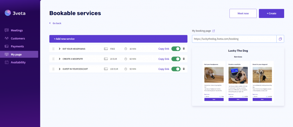 Add and manage your services